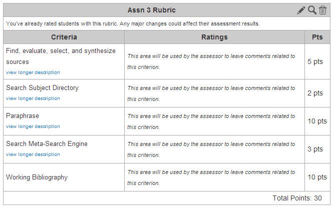 Assn3Rubric